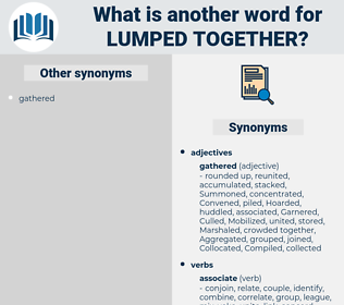 lumped together, synonym lumped together, another word for lumped together, words like lumped together, thesaurus lumped together