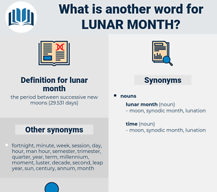 lunar month, synonym lunar month, another word for lunar month, words like lunar month, thesaurus lunar month