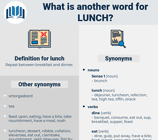 lunch, synonym lunch, another word for lunch, words like lunch, thesaurus lunch
