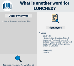 Lunched, synonym Lunched, another word for Lunched, words like Lunched, thesaurus Lunched
