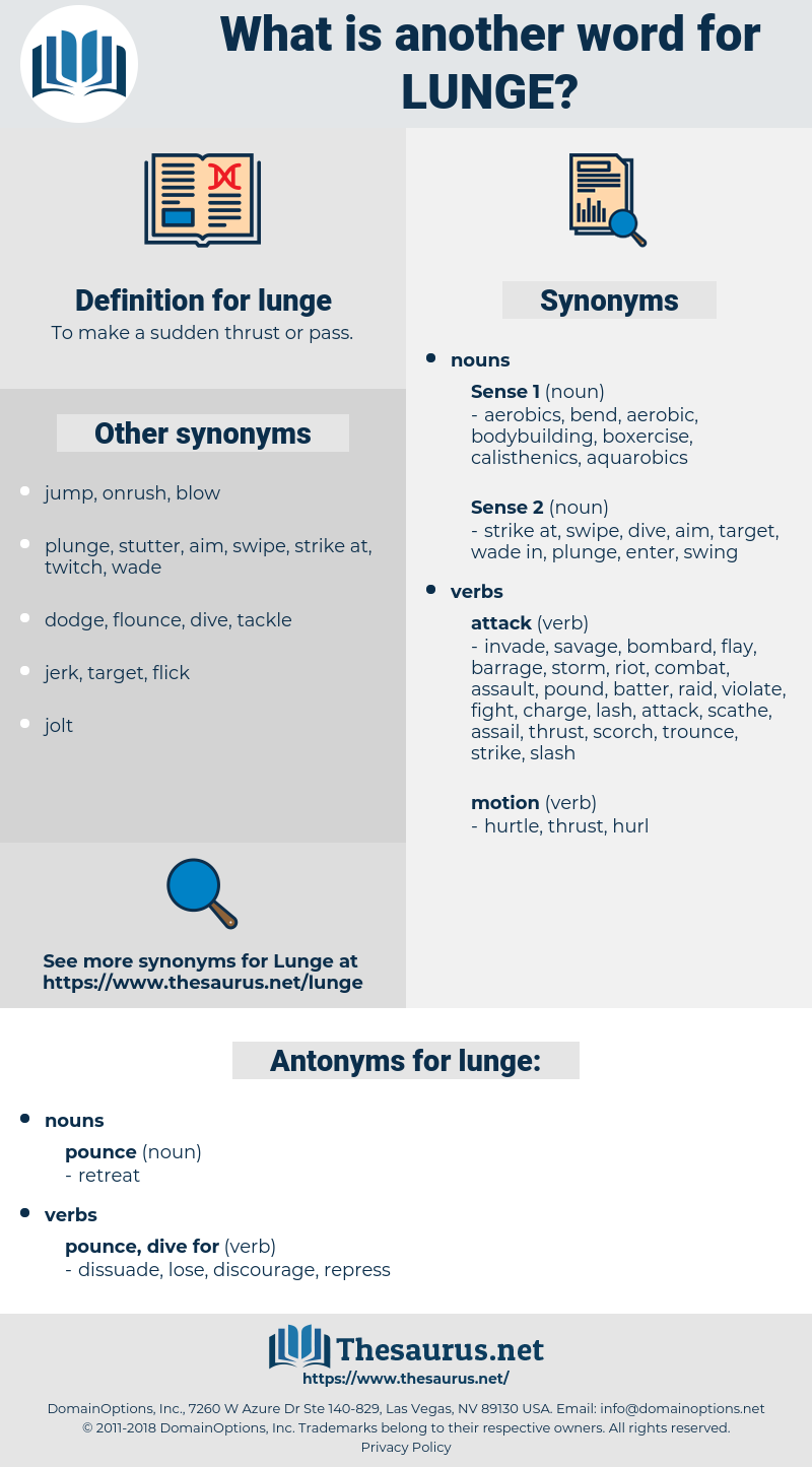 lunge, synonym lunge, another word for lunge, words like lunge, thesaurus lunge