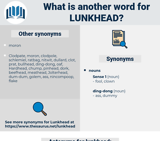 lunkhead, synonym lunkhead, another word for lunkhead, words like lunkhead, thesaurus lunkhead