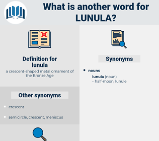 lunula, synonym lunula, another word for lunula, words like lunula, thesaurus lunula