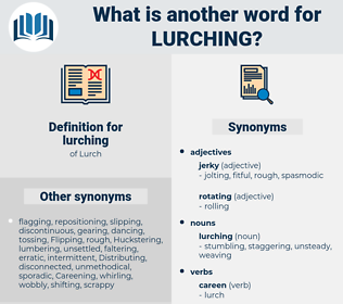 lurching, synonym lurching, another word for lurching, words like lurching, thesaurus lurching
