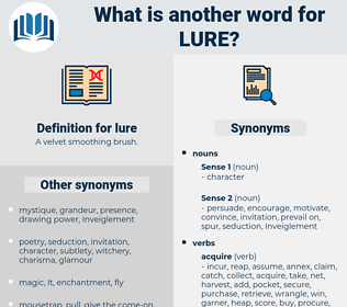 lure, synonym lure, another word for lure, words like lure, thesaurus lure