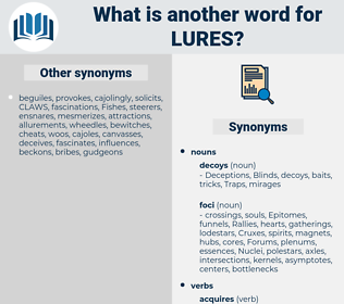 lures, synonym lures, another word for lures, words like lures, thesaurus lures