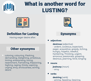 Lusting, synonym Lusting, another word for Lusting, words like Lusting, thesaurus Lusting