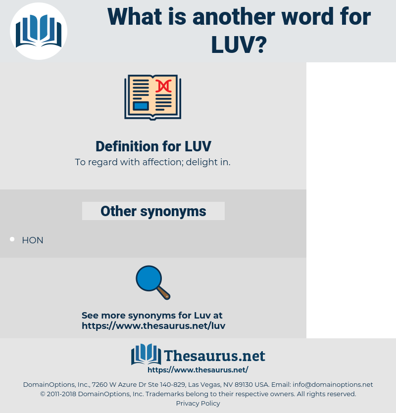 LUV, synonym LUV, another word for LUV, words like LUV, thesaurus LUV