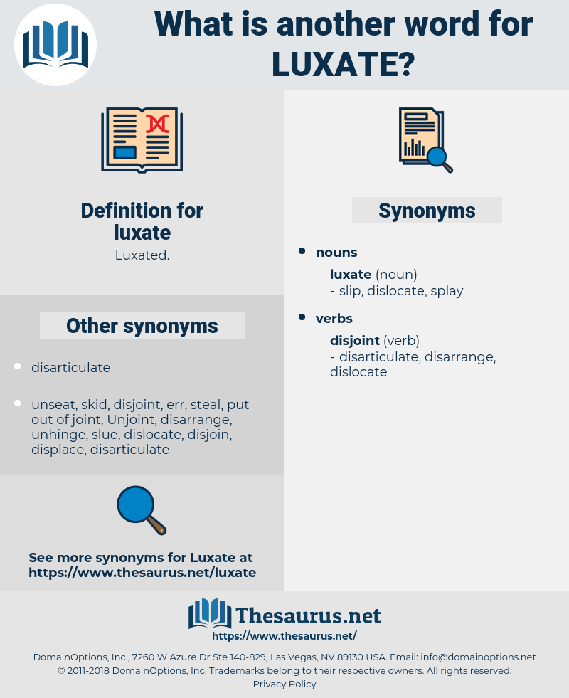 luxate, synonym luxate, another word for luxate, words like luxate, thesaurus luxate