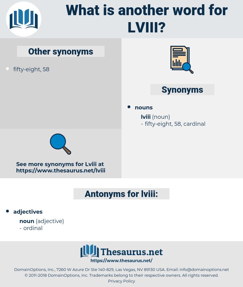 lviii, synonym lviii, another word for lviii, words like lviii, thesaurus lviii