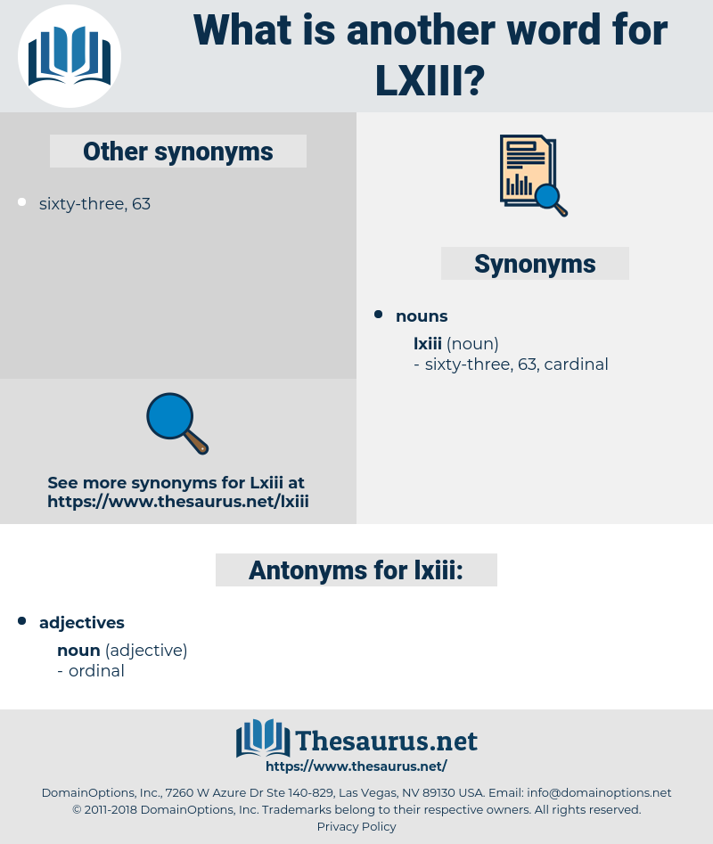 lxiii, synonym lxiii, another word for lxiii, words like lxiii, thesaurus lxiii