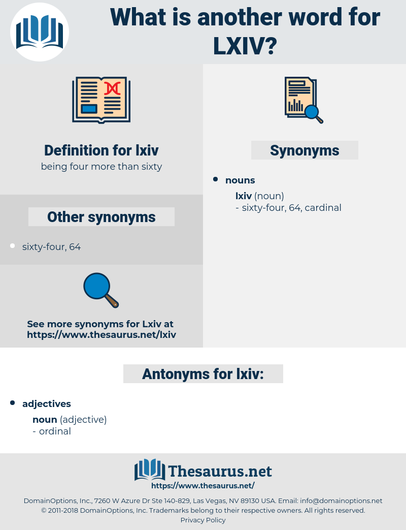 lxiv, synonym lxiv, another word for lxiv, words like lxiv, thesaurus lxiv