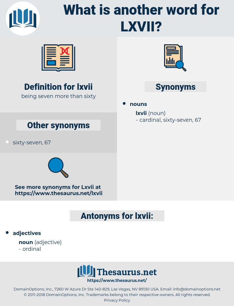 lxvii, synonym lxvii, another word for lxvii, words like lxvii, thesaurus lxvii