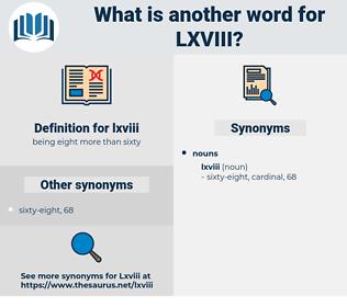 lxviii, synonym lxviii, another word for lxviii, words like lxviii, thesaurus lxviii
