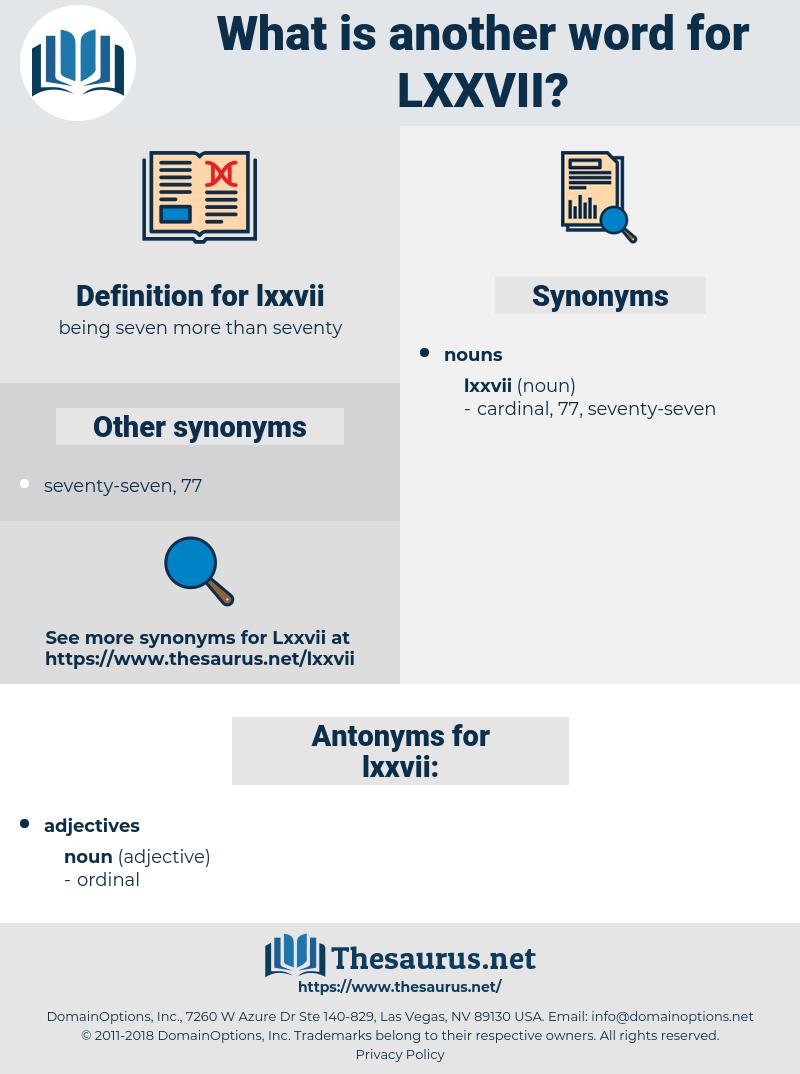 lxxvii, synonym lxxvii, another word for lxxvii, words like lxxvii, thesaurus lxxvii