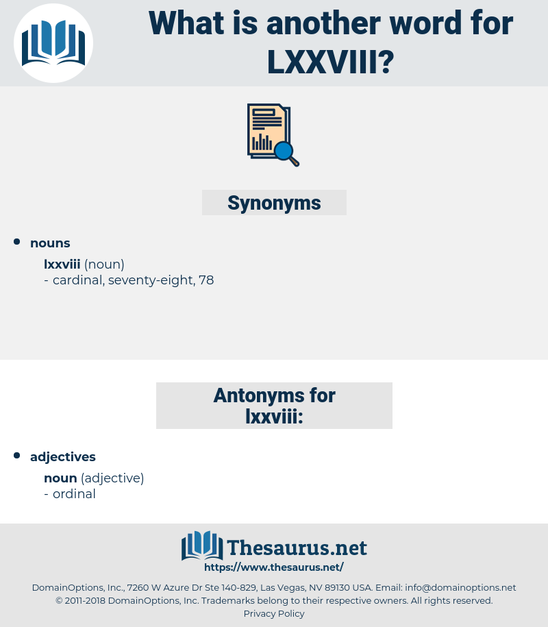 lxxviii, synonym lxxviii, another word for lxxviii, words like lxxviii, thesaurus lxxviii