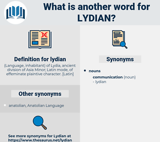 lydian, synonym lydian, another word for lydian, words like lydian, thesaurus lydian