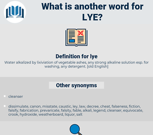 lye, synonym lye, another word for lye, words like lye, thesaurus lye