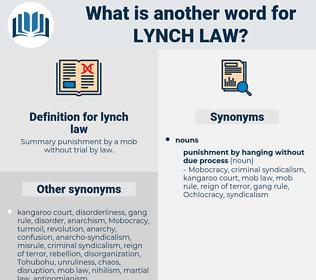 lynch law, synonym lynch law, another word for lynch law, words like lynch law, thesaurus lynch law