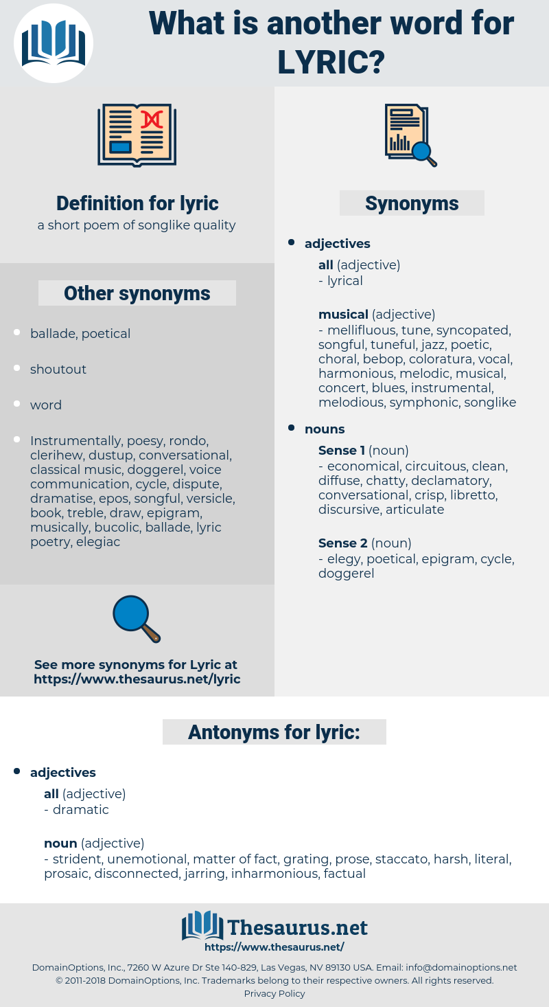 lyric, synonym lyric, another word for lyric, words like lyric, thesaurus lyric