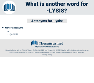 lysis, synonym lysis, another word for lysis, words like lysis, thesaurus lysis