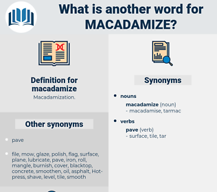 macadamize, synonym macadamize, another word for macadamize, words like macadamize, thesaurus macadamize
