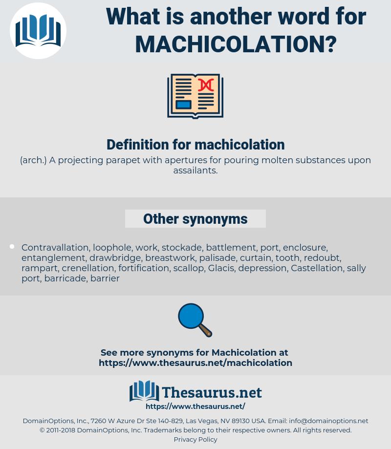 machicolation, synonym machicolation, another word for machicolation, words like machicolation, thesaurus machicolation
