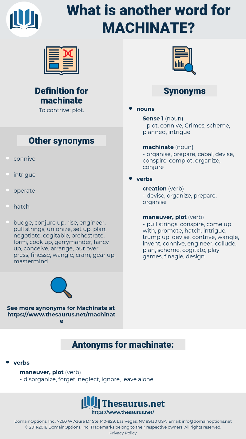 machinate, synonym machinate, another word for machinate, words like machinate, thesaurus machinate