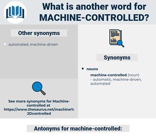 machine-controlled, synonym machine-controlled, another word for machine-controlled, words like machine-controlled, thesaurus machine-controlled
