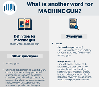 machine gun, synonym machine gun, another word for machine gun, words like machine gun, thesaurus machine gun