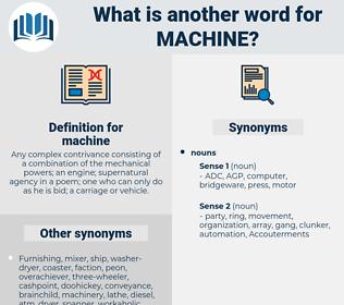 machine, synonym machine, another word for machine, words like machine, thesaurus machine