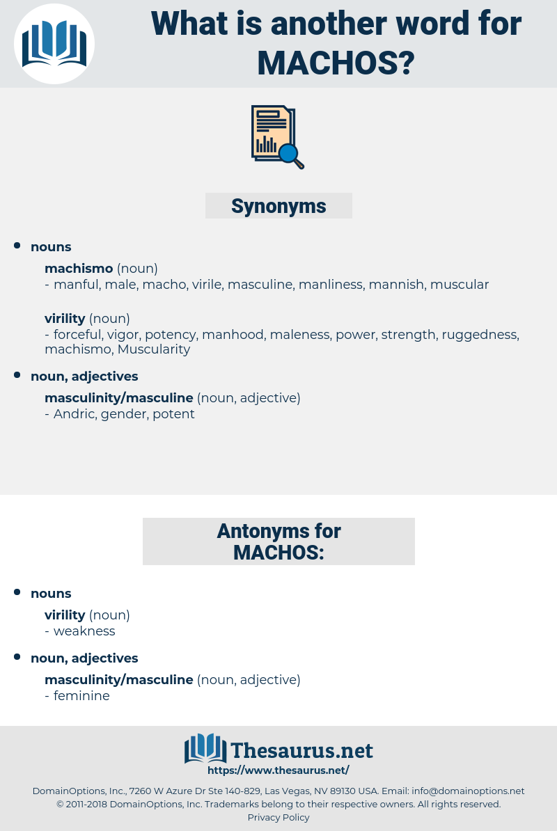 MACHOS, synonym MACHOS, another word for MACHOS, words like MACHOS, thesaurus MACHOS