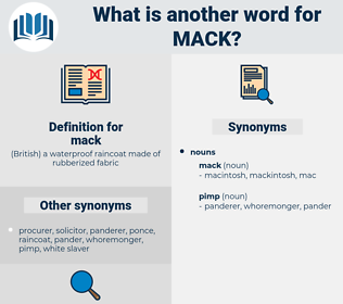 mack, synonym mack, another word for mack, words like mack, thesaurus mack