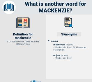 mackenzie, synonym mackenzie, another word for mackenzie, words like mackenzie, thesaurus mackenzie