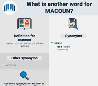 macoun, synonym macoun, another word for macoun, words like macoun, thesaurus macoun