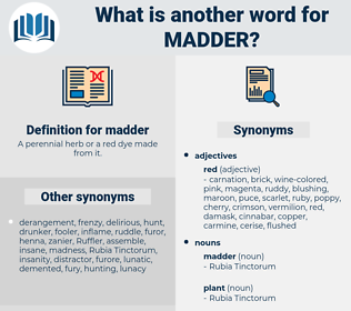 madder, synonym madder, another word for madder, words like madder, thesaurus madder