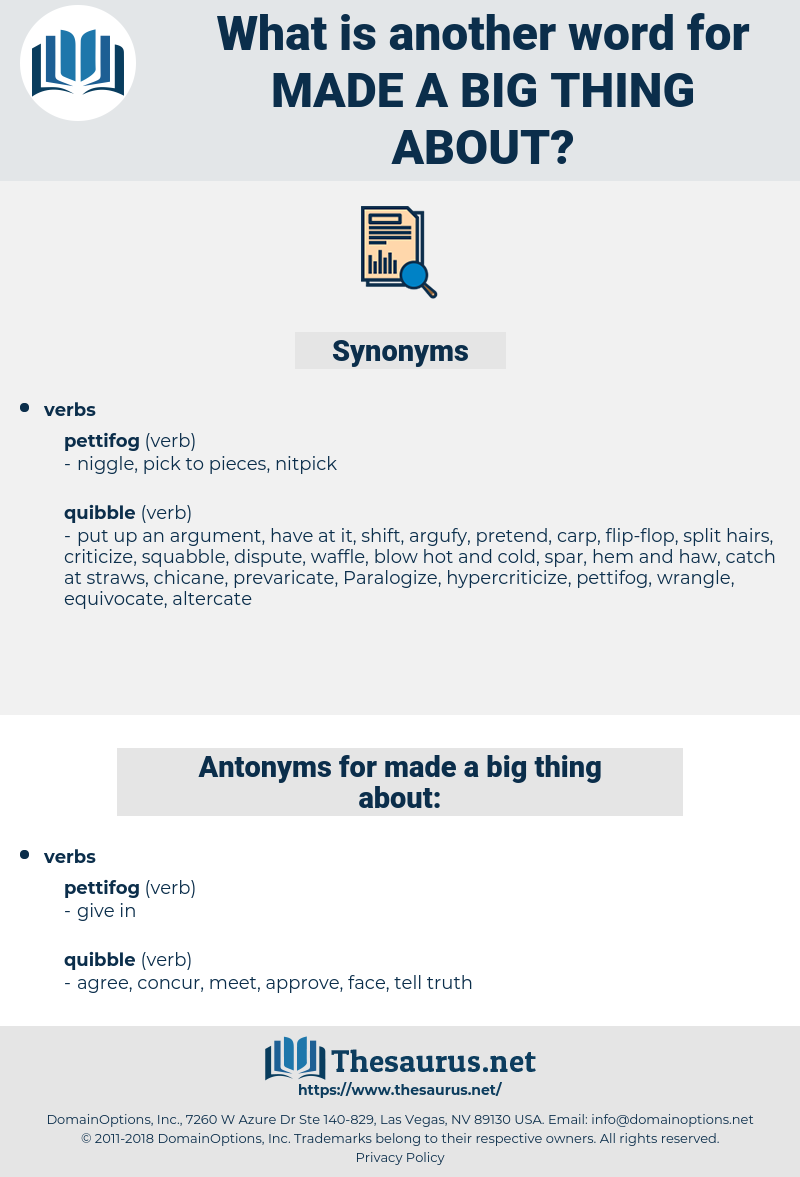 made a big thing about, synonym made a big thing about, another word for made a big thing about, words like made a big thing about, thesaurus made a big thing about