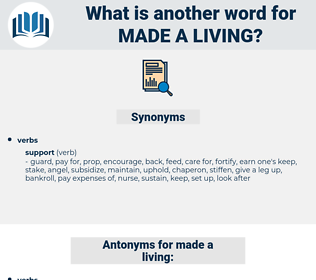 made a living, synonym made a living, another word for made a living, words like made a living, thesaurus made a living