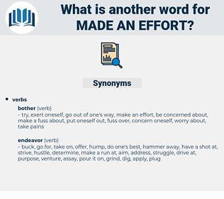 made an effort, synonym made an effort, another word for made an effort, words like made an effort, thesaurus made an effort