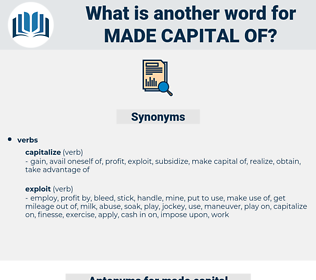 made capital of, synonym made capital of, another word for made capital of, words like made capital of, thesaurus made capital of