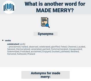 made merry, synonym made merry, another word for made merry, words like made merry, thesaurus made merry