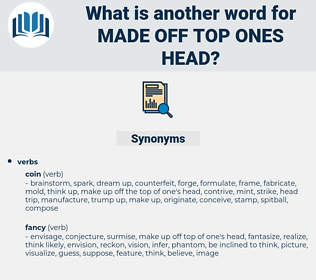 made off top ones head, synonym made off top ones head, another word for made off top ones head, words like made off top ones head, thesaurus made off top ones head