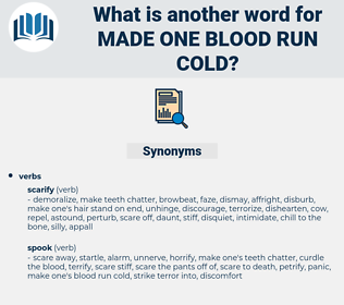 made one blood run cold, synonym made one blood run cold, another word for made one blood run cold, words like made one blood run cold, thesaurus made one blood run cold
