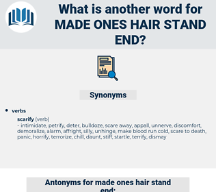 made ones hair stand end, synonym made ones hair stand end, another word for made ones hair stand end, words like made ones hair stand end, thesaurus made ones hair stand end