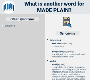 made plain, synonym made plain, another word for made plain, words like made plain, thesaurus made plain