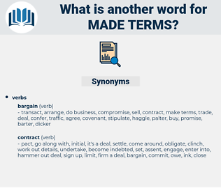 made terms, synonym made terms, another word for made terms, words like made terms, thesaurus made terms