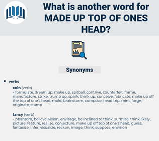 made up top of ones head, synonym made up top of ones head, another word for made up top of ones head, words like made up top of ones head, thesaurus made up top of ones head