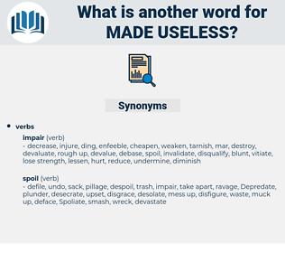 made useless, synonym made useless, another word for made useless, words like made useless, thesaurus made useless