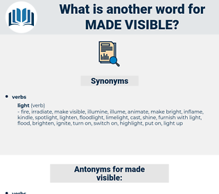 made visible, synonym made visible, another word for made visible, words like made visible, thesaurus made visible