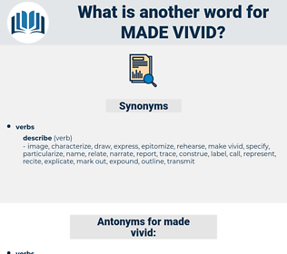 made vivid, synonym made vivid, another word for made vivid, words like made vivid, thesaurus made vivid